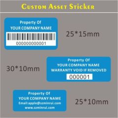 Custom Asset Control Stickers,Property ID Tag Labels,Tamper Evident Security Asset Label Sticker for Tracking