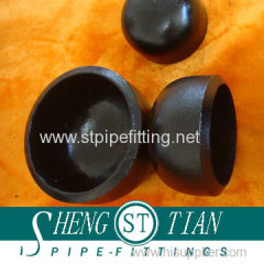 Carbon steel pipe fitting seamless cap