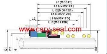 burgmann type of MG912 Elastomer Bellow Seals