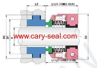 Multi-Spring mechanical Seal WB2