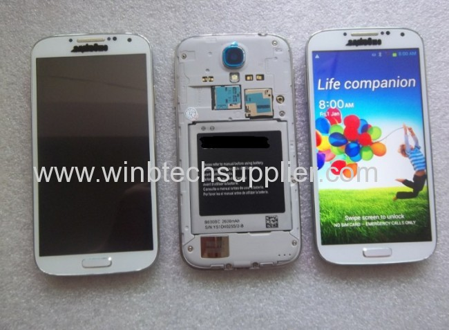 5 inch 1:1 S4 MTK6589 Quad Core Mobile phone with Air View Function(Floating Touch) IPS HD Screen 1GB+4GB 8MP Camera