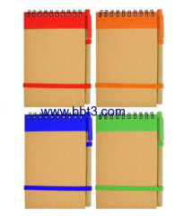 Promotional recycle note pad with highlighter and ballpen