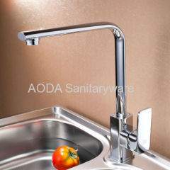 Single lever Basin Faucet mixer with rotatable spout