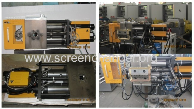 dual column contiouous screen changer for gas pipe extrusion line