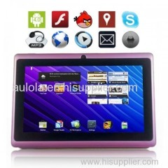 """4GB 7"""" Google Android 4.0 Tablet PC Multi Touch Screen Wifi Camera - Aulola"""