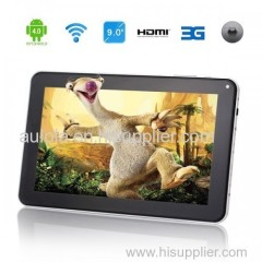 """9""""Multi-touch Capacitive Screen Android 4.0 8GB Dual-Camera Tablet PC - Aulola"""