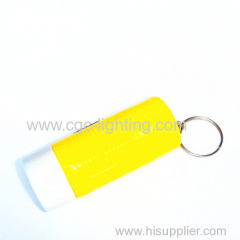 plastic high power and easy-taking keychain flash light