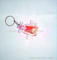 plastic mini keychain flash light with high power
