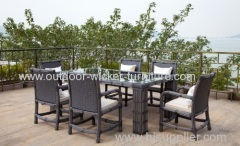 Outdoor leisure water pipe rattan dining set