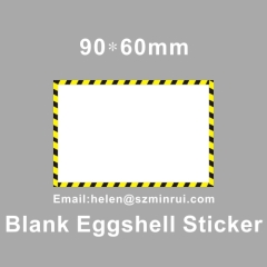 blank eggshell arts sticker