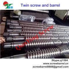 Bimetallic twin screw barrel