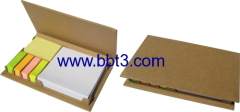 New recycle paper box with sticky notes for promotion