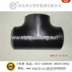 seamless tee pipe fitting