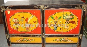 Antique Mongolia drawing buffets