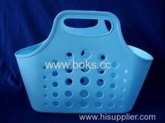 2013 plastic soft baskets with handle