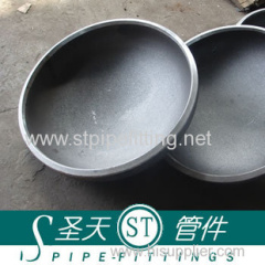 Carbon steel seamless cap