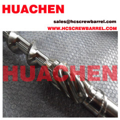 Screw and barrel of extrusion