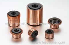 slotted(riser) type commutator for automotive starter motor