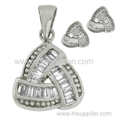 CZ jewelry set with Sterling Silver 925
