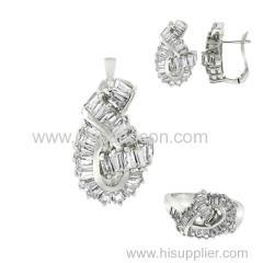 Fashion CZ knot jewelry set