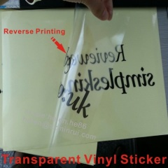 waterproof transparent vinyl label sticker