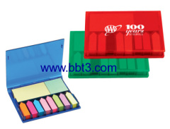 Promotional post-it in in plastic box with big logo printing