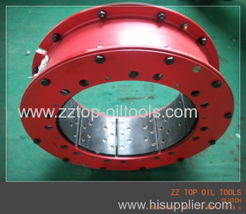 Pneumatic tube clutch drilling rig clutch