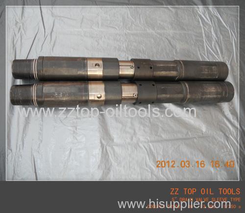 Sle eve type Drain valve for drill stem testing
