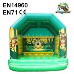 Green Jungle Bounce House for Kids