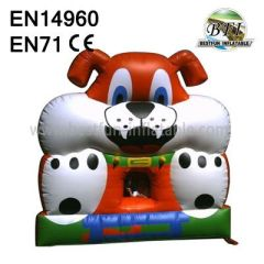 Popular Cute Dog Inflatable Castle