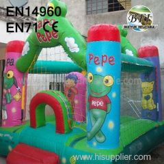 New design Sapo Pepe Inflatable House