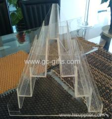 The symmetric structure of transparent acrylic display rack