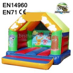 Cartoon Inflatable Bouncer Castle For Kids