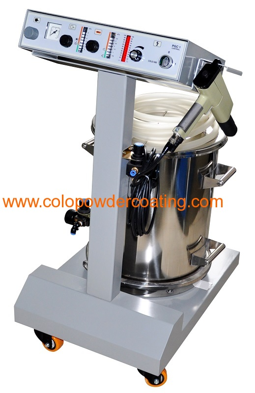 hopper feed powder spray gun