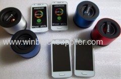 Mic bass speaker with handsfree calling funtion for cellphone using