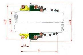 Type 155 water pump mechanical seal 12mm