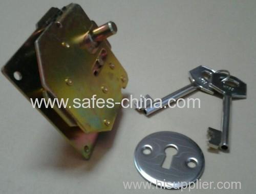 Double-bit key lock for safe