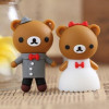 Popular cartoon bear groom and bride wedding gift usb flash drive