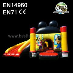 Children Inflatable Mickey Bouncer Playground witn Slide