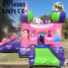 Backyard Pink Princess Inflatable Bouncer With Slide for Rent
