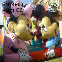 Hot Sale Smile Mickey And Minnie Mouse Inflatable Bouncer