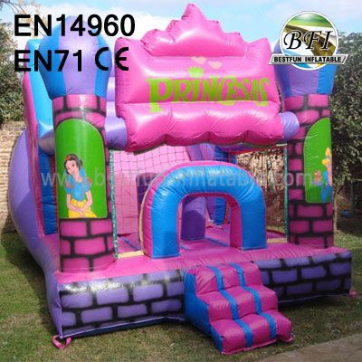 Backyard Lovely Pink Princess Bouncy Castles
