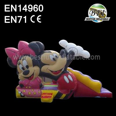Happy Inflatable Mickey And Minnie Mouse Bouncer Slide Combo
