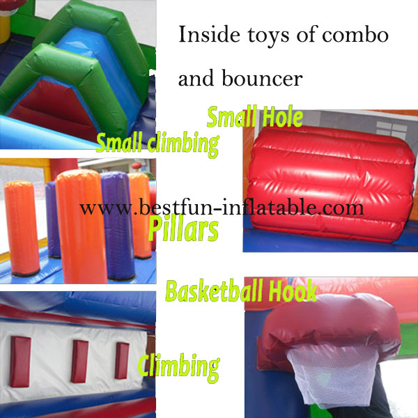 Beautiful House Inflatable Slide Jumper Combo Bouncer