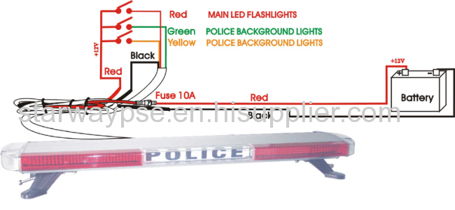 led lightbar for emergency vehicle police fire manufacturers and rh starwaypse com Flasher Wiring Diagrams Model 127 Flasher Wiring Diagram 5 Pin
