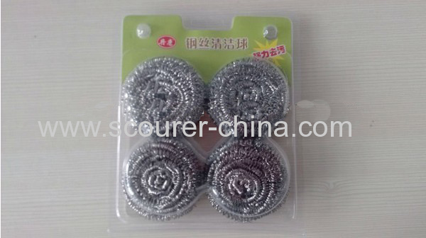 Anti-mildew and anti-bacterial Dry quickly and lasting New Stainless Steel Spiral Scourer