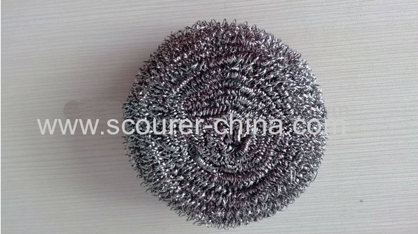 Harmless and Rustless Shiny silver Spiral Stainless Scourer For kitchen cleaning