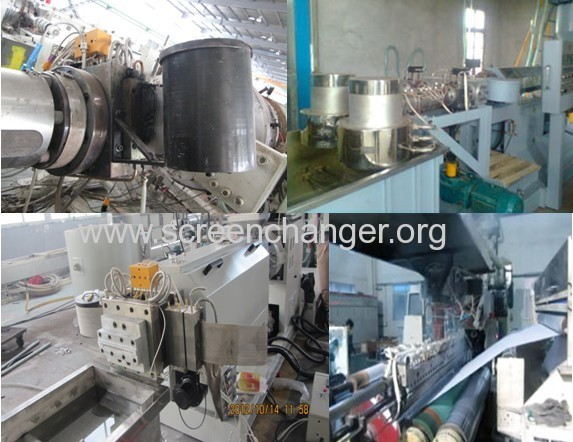 Automatic mesh belt melt filter for extrusion plastic machine