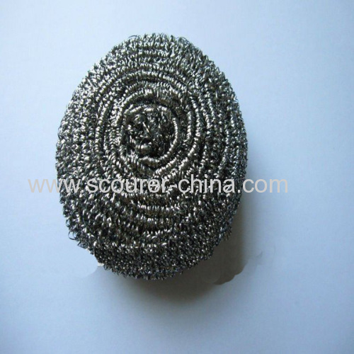Scrub and wash the dishes cleanly Flat stainless steel spiral scourers