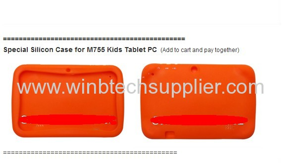 Kids Cartoon Tablet PCwith Educational Apps & Kids Mode 7 inch Android 4.1 Dual Cam Wifi